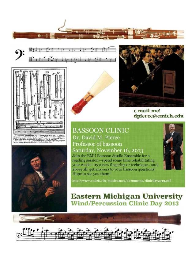 Bassoon EMU Clinic Day 2013